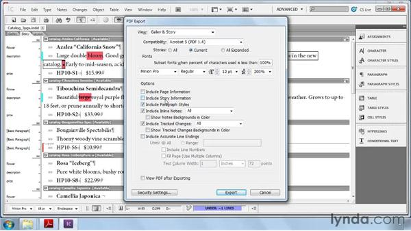 Exporting galleys and stories to PDF: Collaborative Workflows with InDesign and InCopy