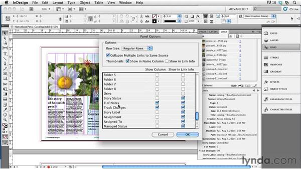 Workflow features in the Links panel: Collaborative Workflows with InDesign and InCopy