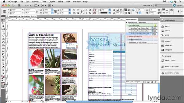 Working with assignments in InCopy: Collaborative Workflows with InDesign and InCopy