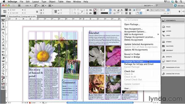 Creating assignment packages in InDesign: Collaborative Workflows with InDesign and InCopy