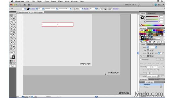 Pixel dimension vs. resolution: Illustrator CS5 for Web and Interactive Design