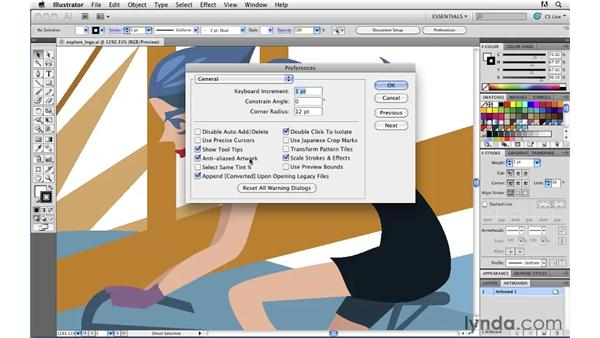 Pixel Preview mode and anti-aliasing: Illustrator CS5 for Web and Interactive Design