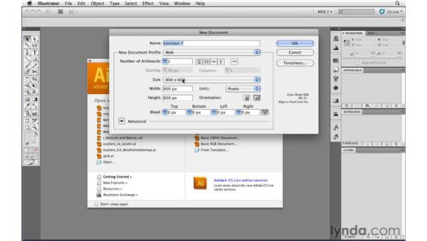 Using the Web document profile: Illustrator CS5 for Web and Interactive Design