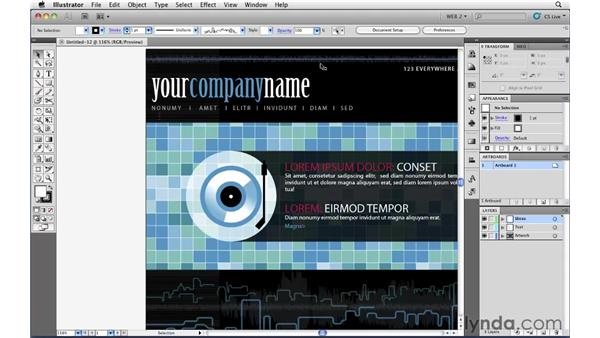 Using Illustrator's free web templates: Illustrator CS5 for Web and Interactive Design