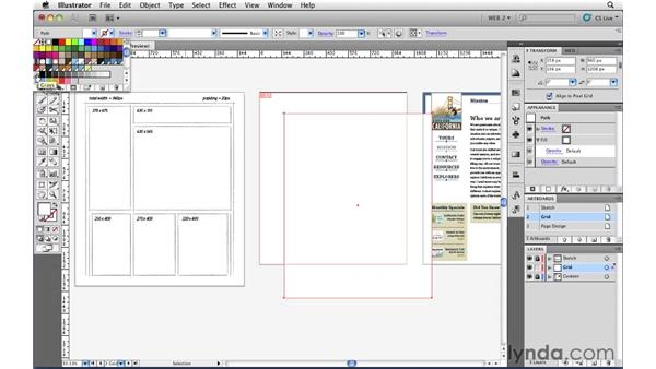 Setting up a grid : Illustrator CS5 for Web and Interactive Design