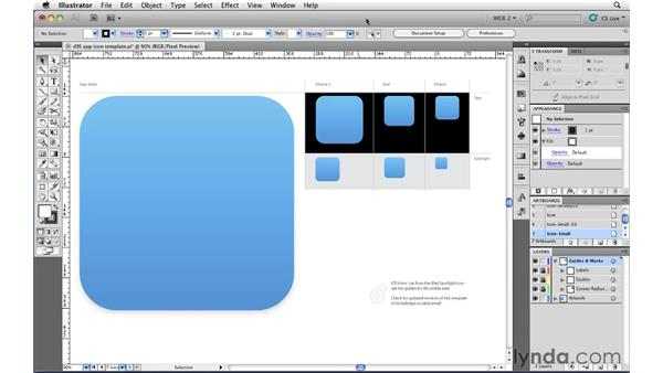 Setting up icons for iOS: Illustrator CS5 for Web and Interactive Design