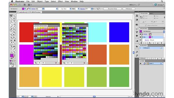 Understanding web-safe colors: Illustrator CS5 for Web and Interactive Design