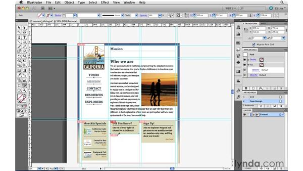 Creating slices manually: Illustrator CS5 for Web and Interactive Design