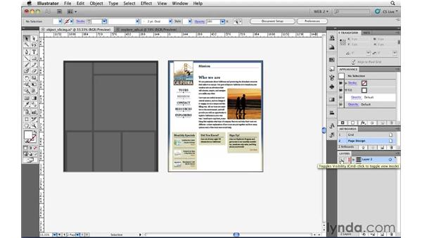 Creating slices from objects: Illustrator CS5 for Web and Interactive Design