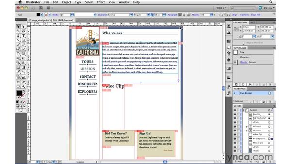 Applying settings to slices: Illustrator CS5 for Web and Interactive Design