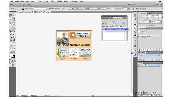 Creating hotspots with image maps: Illustrator CS5 for Web and Interactive Design