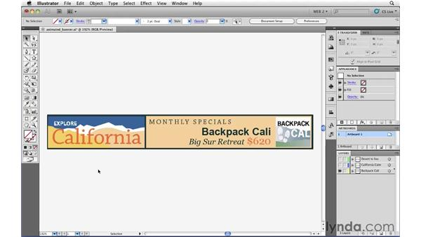 Animated SWF: Converting Illustrator layers to SWF frames: Illustrator CS5 for Web and Interactive Design