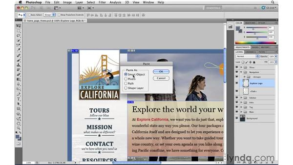 Working with Photoshop Smart Objects: Illustrator CS5 for Web and Interactive Design