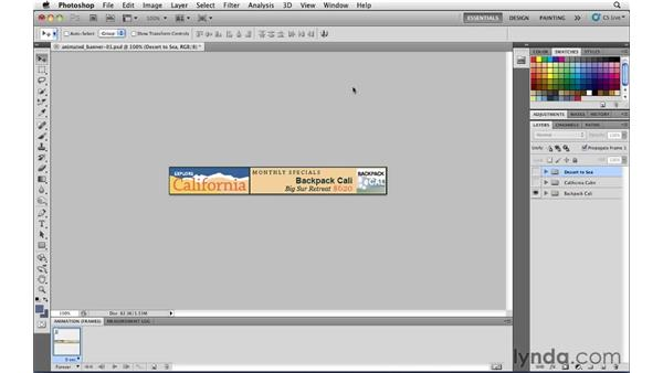 Generating an animated GIF file with Photoshop: Illustrator CS5 for Web and Interactive Design