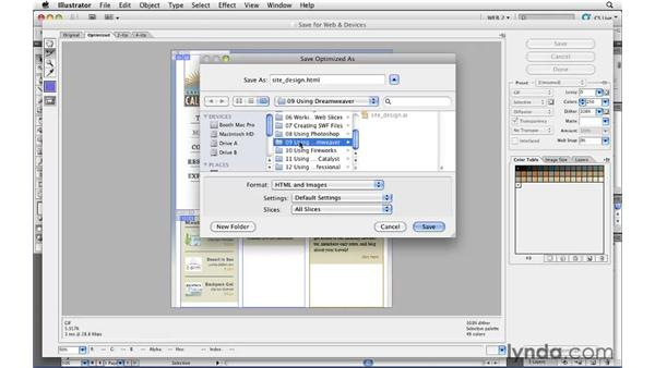 Exporting HTML from Illustrator for use in Dreamweaver: Illustrator CS5 for Web and Interactive Design