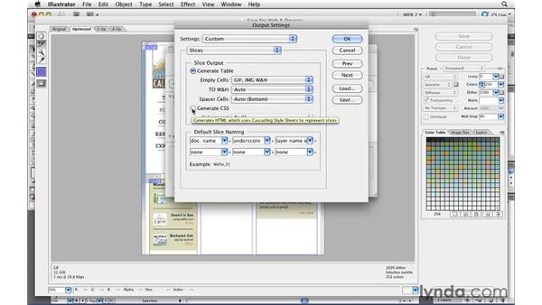 Exporting CSS and DIVs from an Illustrator layout: Illustrator CS5 for Web and Interactive Design