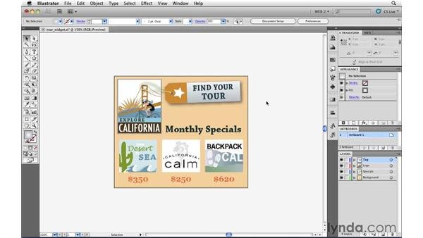 Building files for use in Flash Catalyst: Illustrator CS5 for Web and Interactive Design