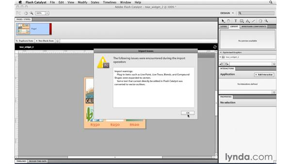 Creating a new Flash Catalyst project from an Illustrator file: Illustrator CS5 for Web and Interactive Design