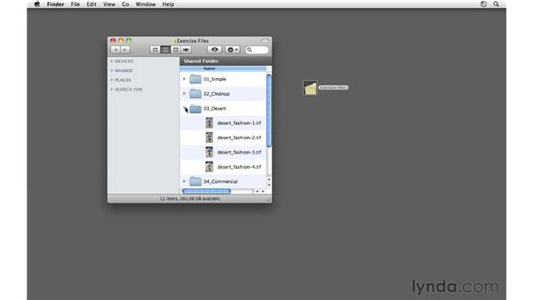 Using the exercise files: Photoshop CS5: Fashion Retouching Projects
