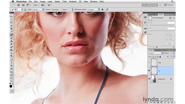 Cleaning up the background and small details: Photoshop CS5: Fashion Retouching Projects