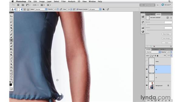 Making structural improvements: Photoshop CS5: Fashion Retouching Projects
