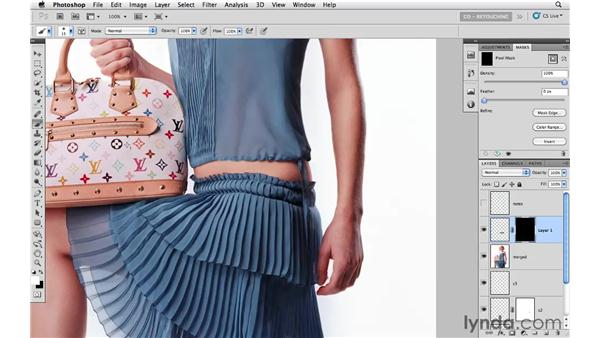 Final image cleanup and organization: Photoshop CS5: Fashion Retouching Projects