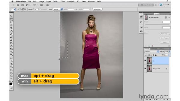 Cleaning up the background: Photoshop CS5: Fashion Retouching Projects