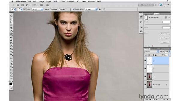 Fixing details and wrinkles: Photoshop CS5: Fashion Retouching Projects