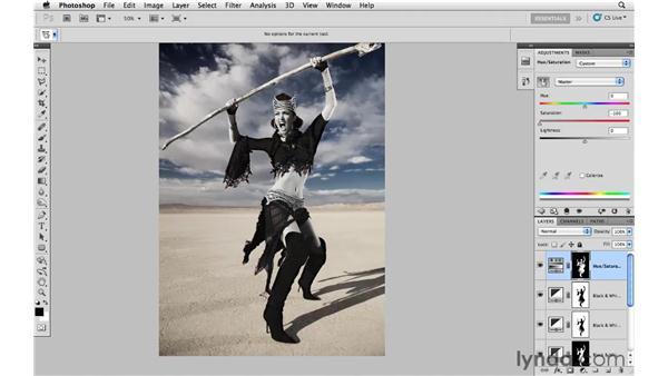 Improving the desert floor: Photoshop CS5: Fashion Retouching Projects
