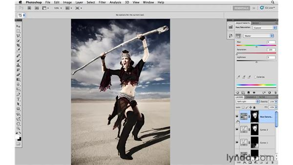 Final color adjustments and final review: Photoshop CS5: Fashion Retouching Projects