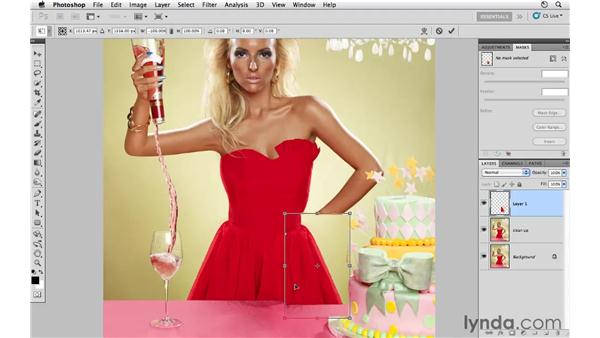 Changing the dress: Photoshop CS5: Fashion Retouching Projects