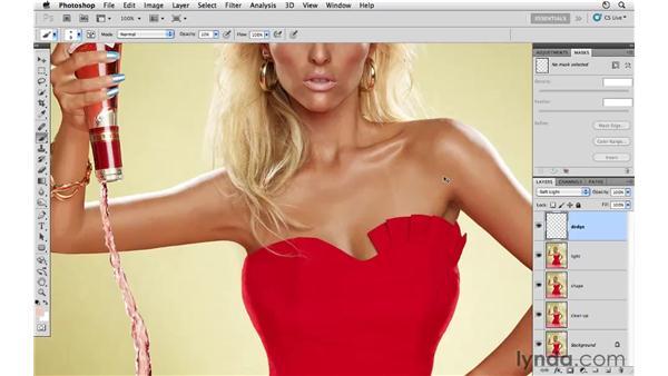Reducing wrinkles: Photoshop CS5: Fashion Retouching Projects