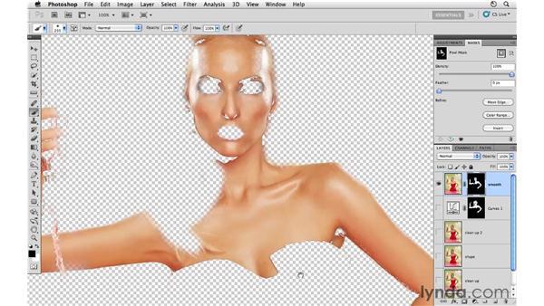 Smoothing skin: Photoshop CS5: Fashion Retouching Projects