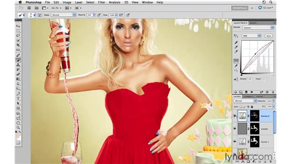 Adding highlights to skin: Photoshop CS5: Fashion Retouching Projects
