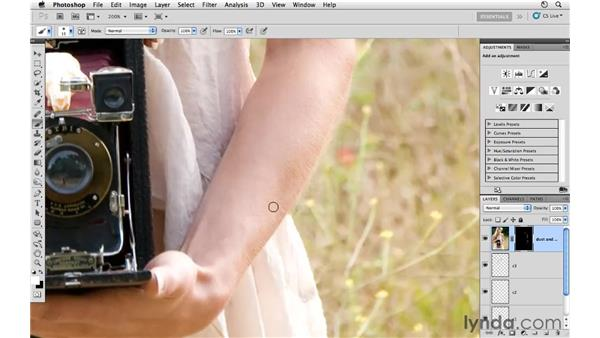 Removing small edge details: Photoshop CS5: Fashion Retouching Projects