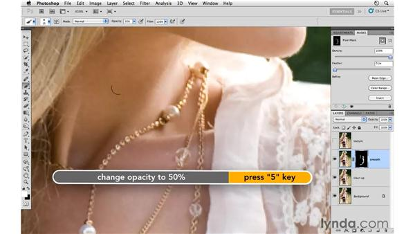 Smoothing the skin: Photoshop CS5: Fashion Retouching Projects