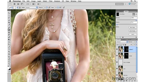 Using Liquify to change shape: Photoshop CS5: Fashion Retouching Projects