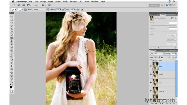 Modifying tone and adding blur : Photoshop CS5: Fashion Retouching Projects