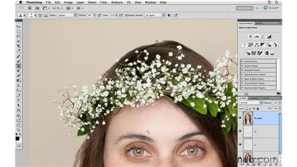 Cleaning up the neck: Photoshop CS5: Fashion Retouching Projects