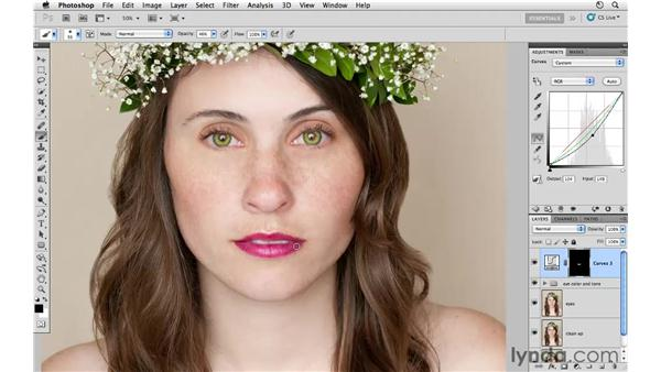 Enhancing the lips: Photoshop CS5: Fashion Retouching Projects