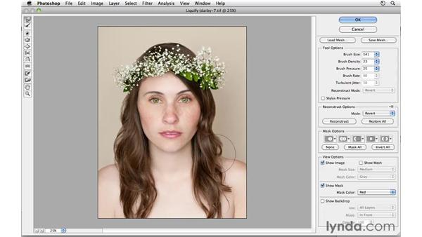 Modifying the shape: Photoshop CS5: Fashion Retouching Projects
