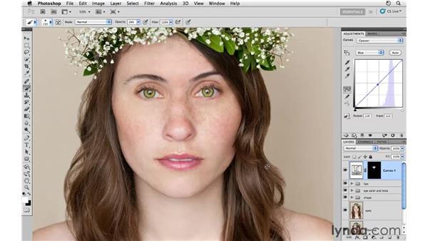 Improving the tonality of the face: Photoshop CS5: Fashion Retouching Projects