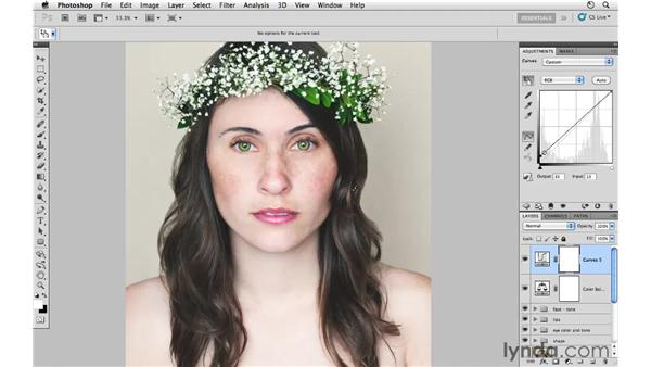 Enhancing the overall color and tone: Photoshop CS5: Fashion Retouching Projects