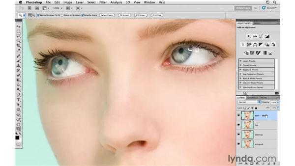 Sharpening the eyes: Photoshop CS5: Fashion Retouching Projects