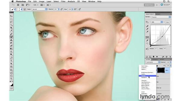 Adjusting the eyebrows and final review: Photoshop CS5: Fashion Retouching Projects