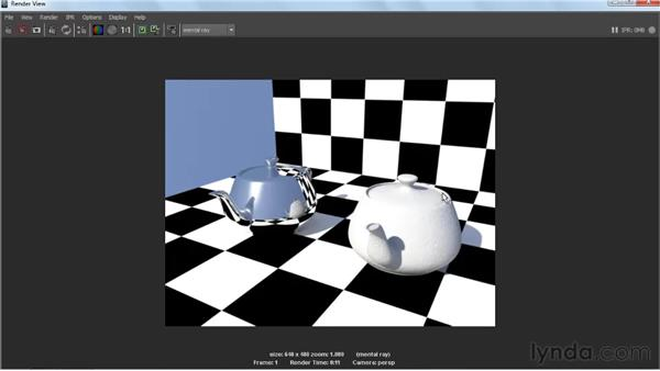 Explaining diffuse reflections: Creating Textures and Shaders in Maya