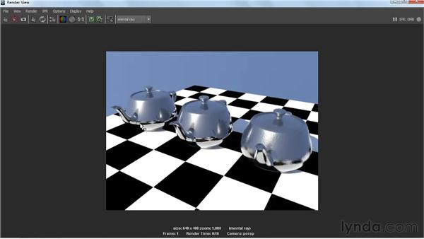 Defining glossy and blurred reflections: Creating Textures and Shaders in Maya