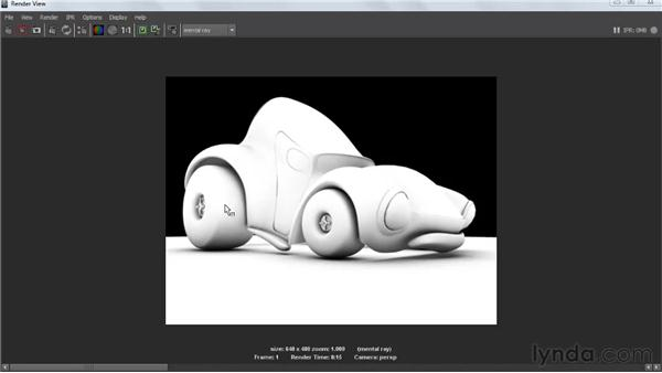 Identifying ambient and reflection occlusion: Creating Textures and Shaders in Maya