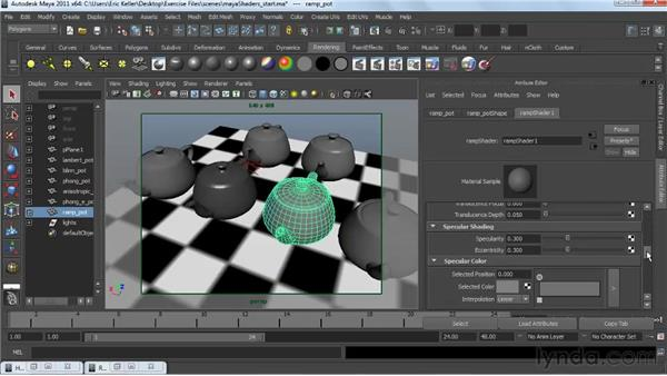 Using Maya's standard shaders with mental ray : Creating Textures and Shaders in Maya
