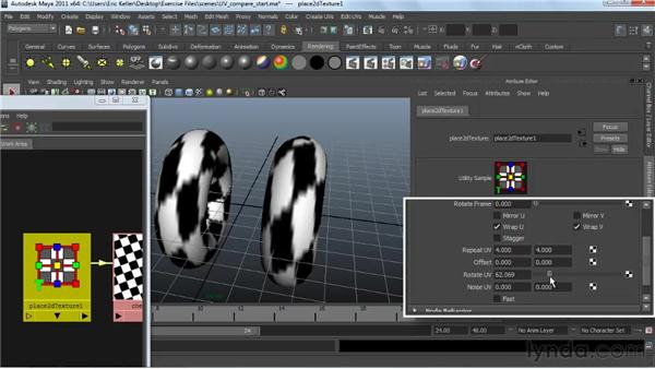 Comparing NURBS and polygon UVs: Creating Textures and Shaders in Maya